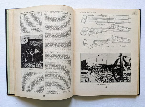 1944 THE HUDSON RIVER TUNNELS / MANHATTAN TUBES Engineering History Illustrated SIGNED by a Lead Engineer by William McMenimen, et al