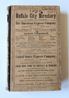 1857 BUFFALO, NEW YORK, CITY DIRECTORY with EVERY RESIDENT & BUSINESS Genealogy