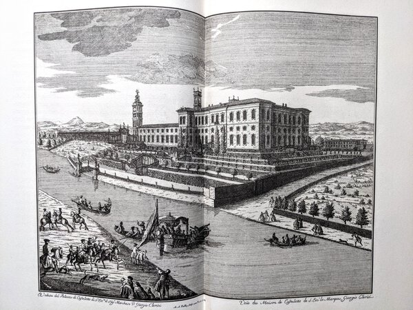 VILLE DI DELIZIA Gorgeous Fine-Printing with 45 LARGE ENGRAVED PLATES of PALATIAL VILLAS of LOMBARDY, ITALY by Marc'Antonio DAL RE by Marc'Antonio Dal Re, et al