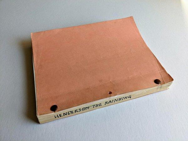 1980 HENDERSON THE RAIN KING Unproduced Original FILM SCREENPLAY from a SAUL BELLOW Novel by Robert C. Jones, Saul Bellow