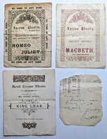 1895 BRAM STOKER - SIGNED & DATED HANDWRITTEN NOTE on a LYCEUM THEATRE PROGRAM + Related Ephemera DRACULA AUTHOR by Bram Stoker